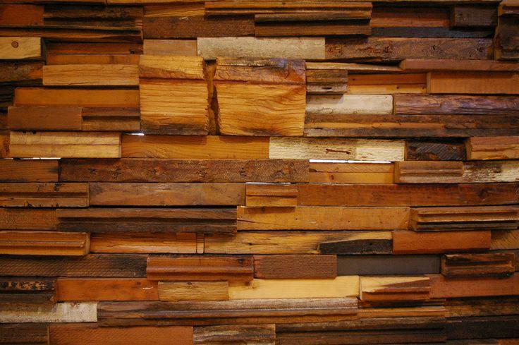 Madera reciclada maderas garc a varona - Decoracion en madera para paredes ...