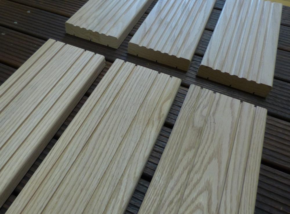 Deck de roble para exterior maderas garc a varona for Tablas de madera para exterior