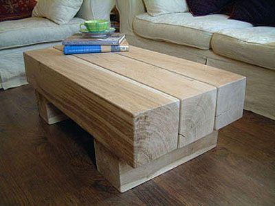 Mesas dise adas con vigas de madera maderas garc a varona - Mesas de tablones de madera ...