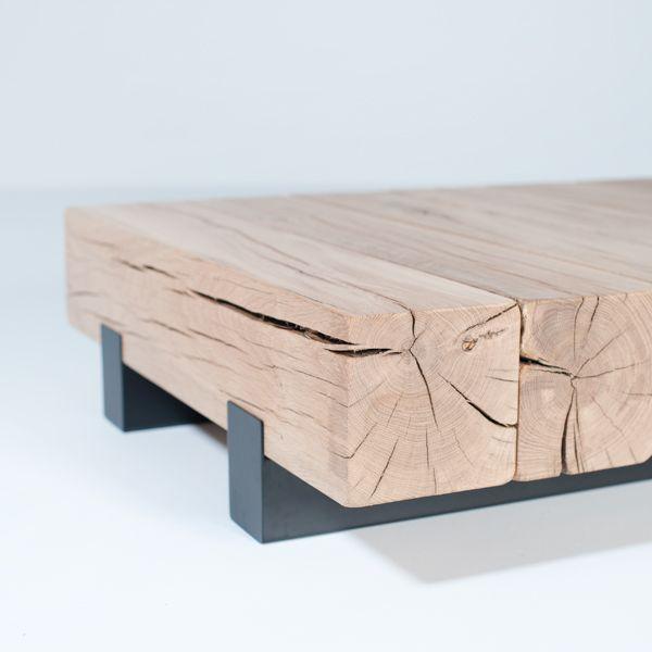 Mesas diseñadas con vigas de madera – Maderas García Varona