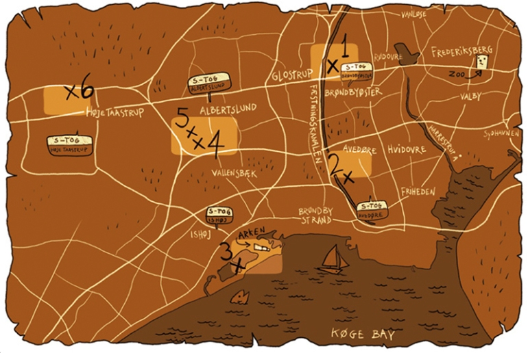Thomas Dambo - The Six forgotten giants - Map